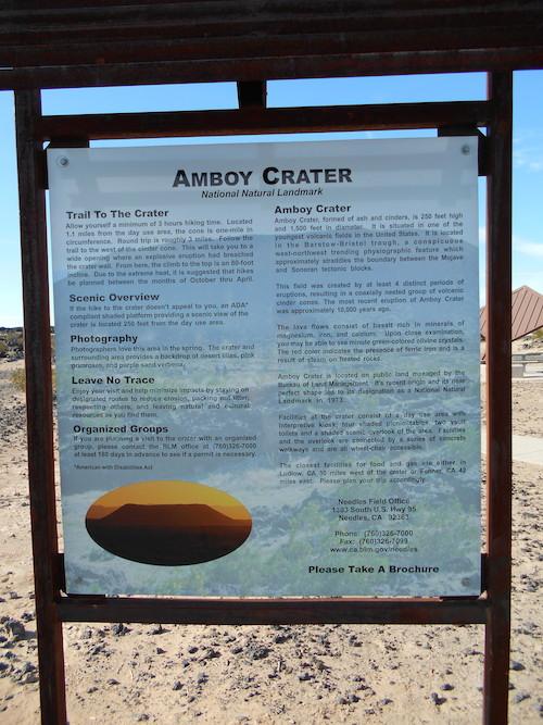 Amboy Crater sign