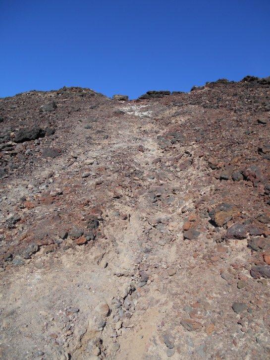 Steep final climb